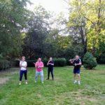 Ju-Jutsu Selbstverteidigung in einem Park in Köln